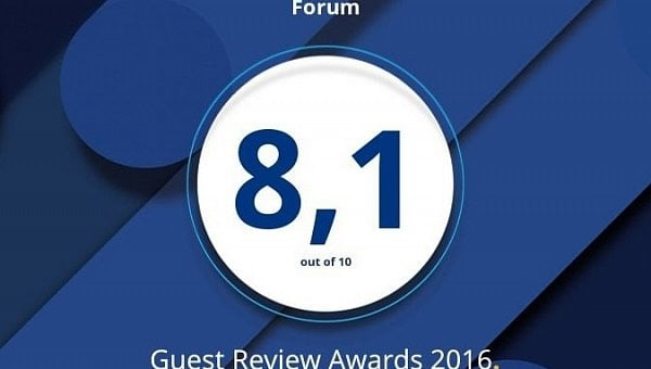 Награда Guest Review Award 2016 от Booking.com